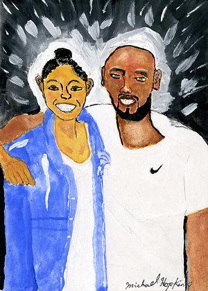 """Kobe and Gianna"" by Michael Hopkins"