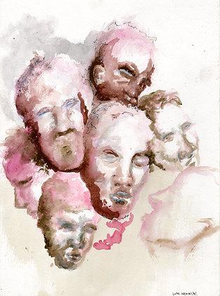 """""""Faces Cloud"""" by Luke Shemroske"""