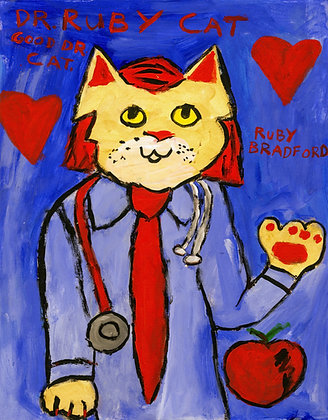 """Dr. Ruby Cat""by Ruby Bradford"