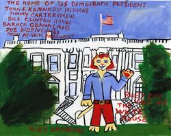 """Ruby Cat Visits the Whitehouse"" by Ruby Bradford"