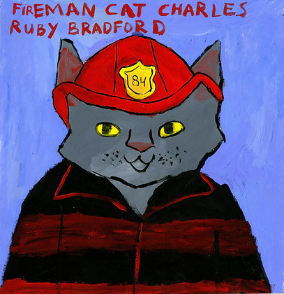 """Fireman Cat Charles"" by Ruby Bradford"