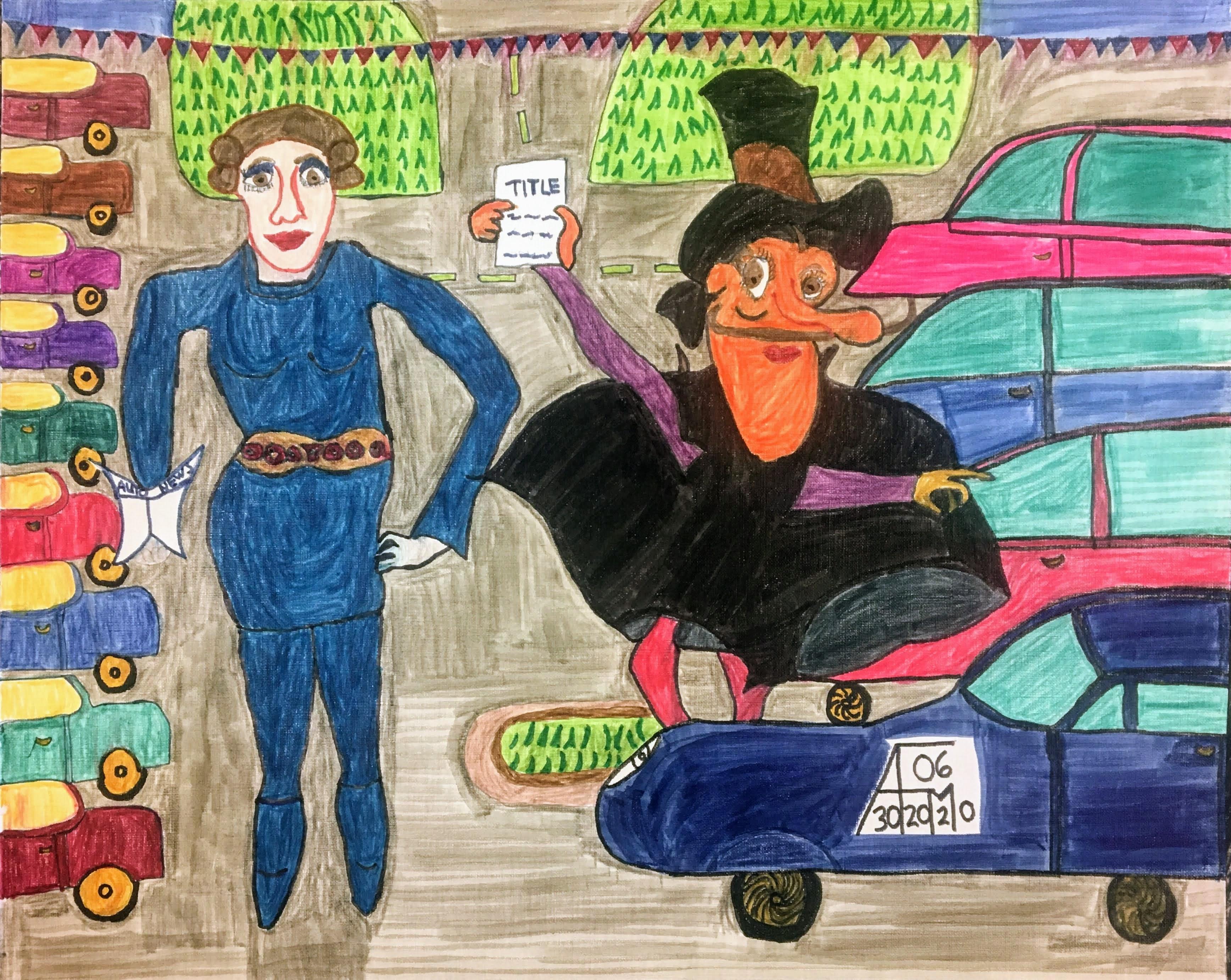 """Car Lot"" by Allen McNair"