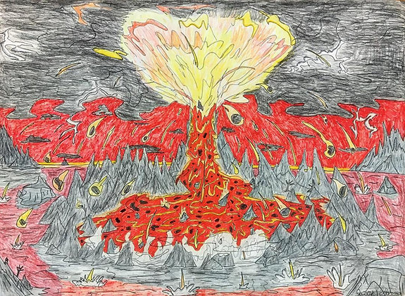 """Volcanic Eruption"" by Jason Harris"