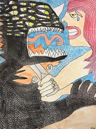 """""""Lilith in Battle"""" by Bill Douglas"""
