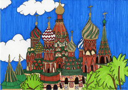 """""""St. Basil Cathedral, Russia"""" by Dana Baker"""