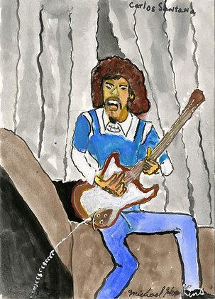 """Carlos Santana"" by Michael Hopkins"