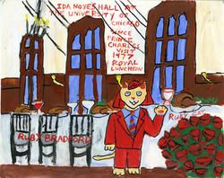 """""""Ruby Cat Visits Ida Noyes Hall"""" by Ruby Bradford"""