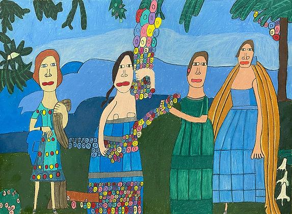 """""""Ladies in the Rose Garden"""" by David Holt"""
