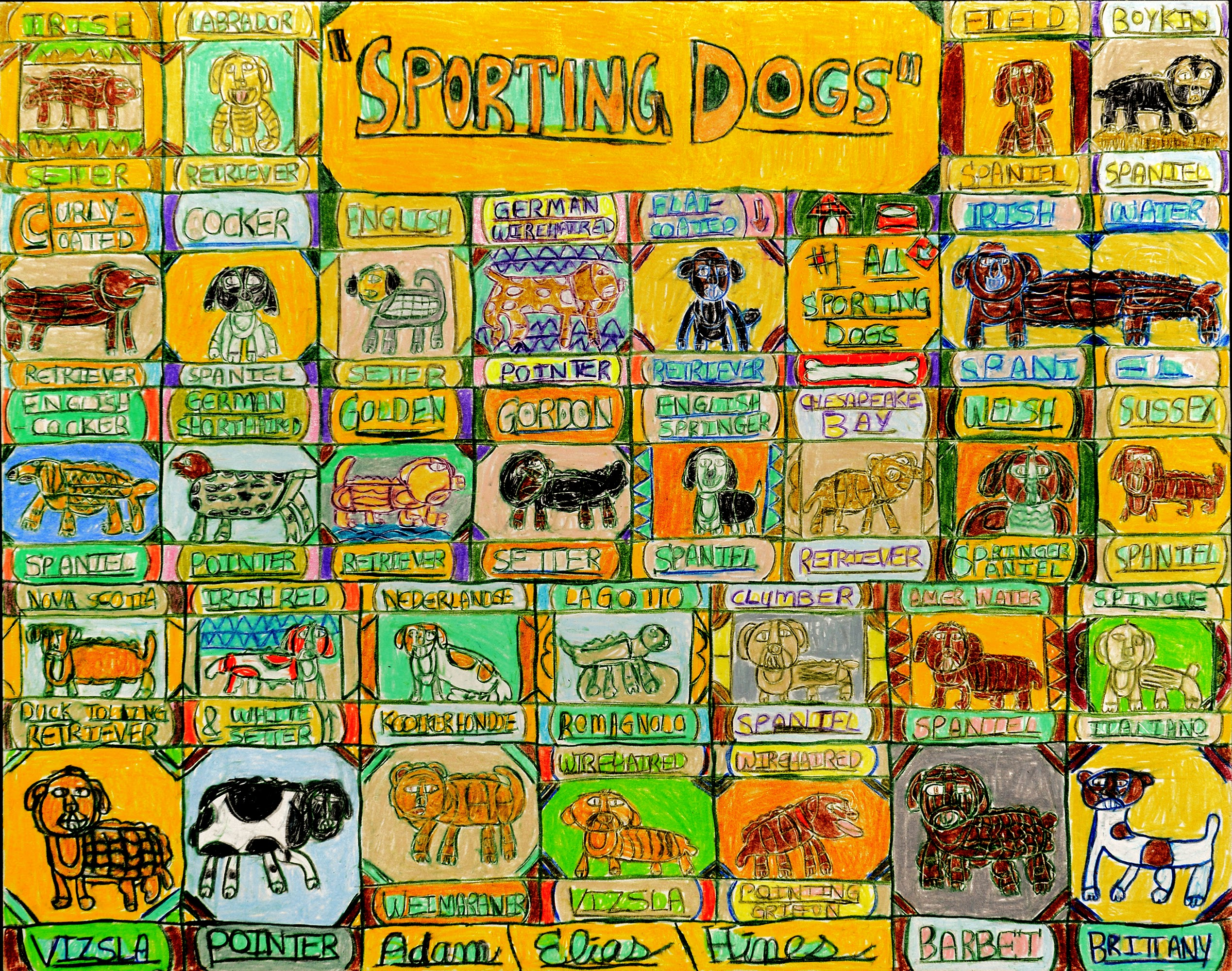 """""""Sporting Dogs"""" by Adam Hines"""