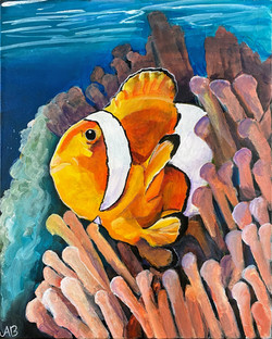 """""""Clownfish and Anemone"""" by Alfred Banks"""
