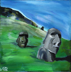 """""""Easter Island View"""" by Alfred Banks"""