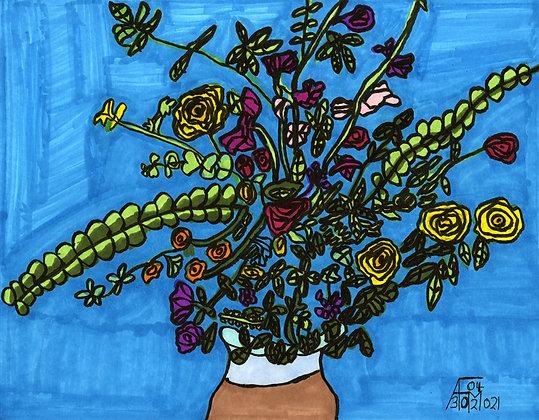 """""""Arrangement in a Brown Vase"""" by Allen McNair"""