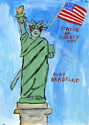 """Statue of Liberty Cat"" by Ruby Bradford"