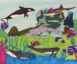 """""""Sharks and Dolphins"""" by Stephon Doby"""