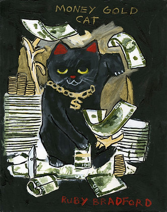 """Money Cat"" by Ruby Bradford"