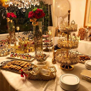 Christmas Enagagement Dessert Table