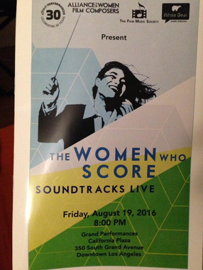 """Tina worked as assistant conductor for """"The Women Who Score Concert"""""""