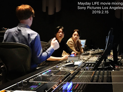 Mixing for Mayday Concert Movie at Sony