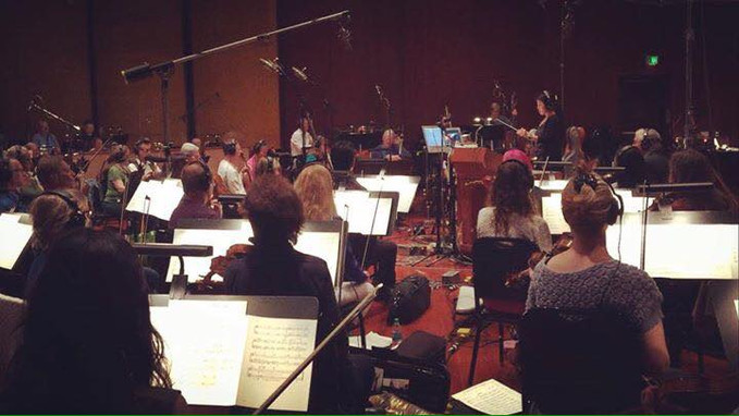Recording session with 65 pieces Hollywood Orchestra in Warner Brothers @ Los Angeles CA