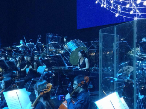 performing with Taiwan Orchestra for Disney concert