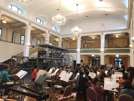 rehearsal with Taipei Symphony Orchestra Musical 前進理想國