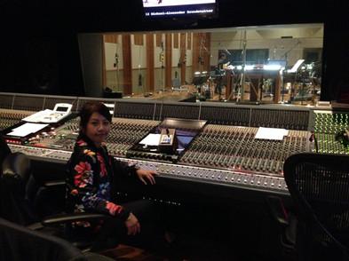 "Recording session in ""The Bridge Studio"" Los Angeles"