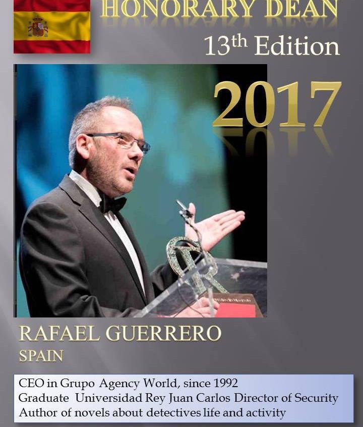 Honor Dean Rafael Guerrero - PI Summer School 2017 Sinaia Romania