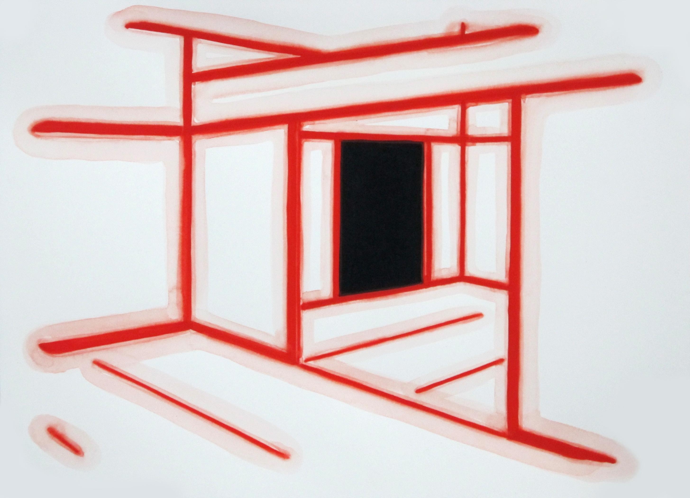 Interior III Gouache on Paper 11 x 14 in 2012