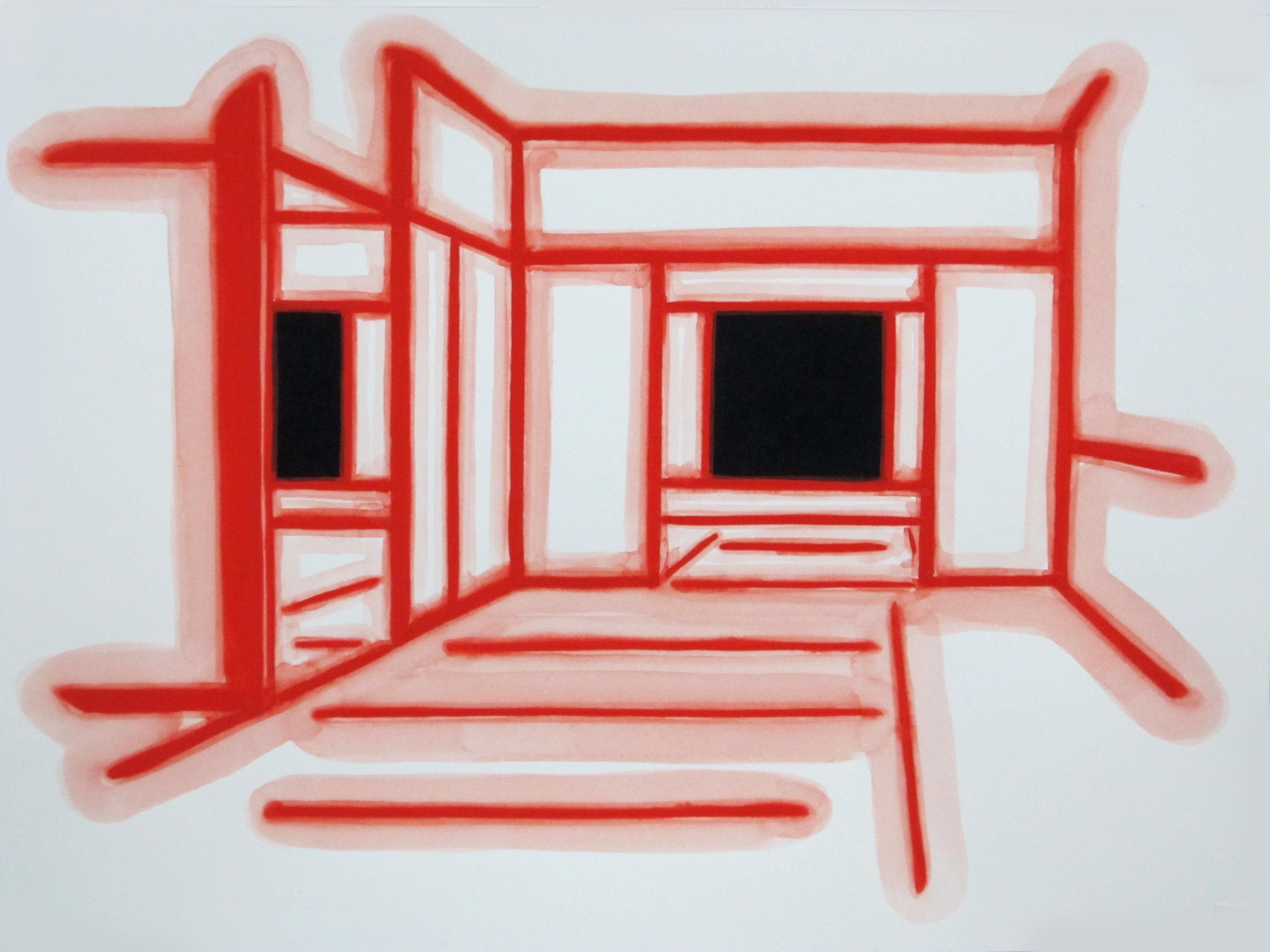 Interior I Gouache on Paper 11 x 14 in 2012