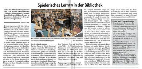 Ryte Ryte Rössli in der Pestalozzi Bibliothek Zürich