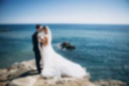 Beautiful wedding couple on their weddin