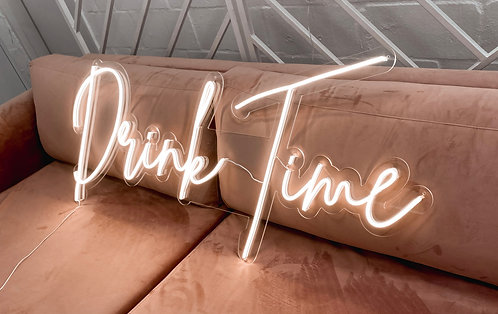 Drink Time Neon Sign