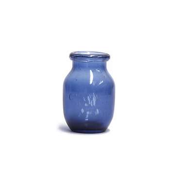Blue Glass Bud Vase Sml