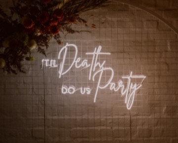Til Death Neon Sign 1m x 600mm