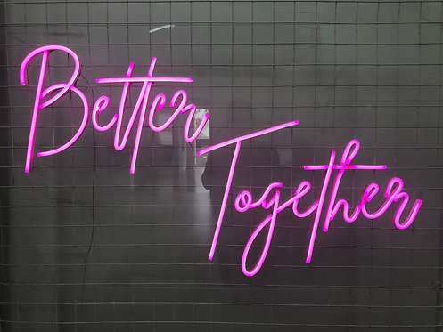 Better Together Pink 1100mm x 600mm