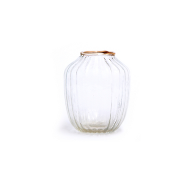 Gold Rim Glass Vase