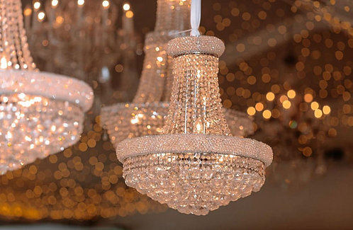 Neoclassical Sparkle Chandelier