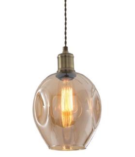 Amber Modern Glass Pendant