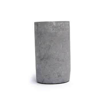 Cement Candle Holder Lrg