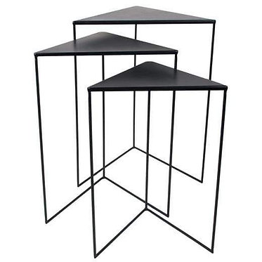 Triangle Nesting Tables - White OR Black