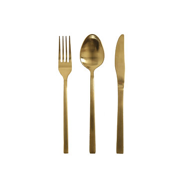 Gold Cutlery - Set of 3