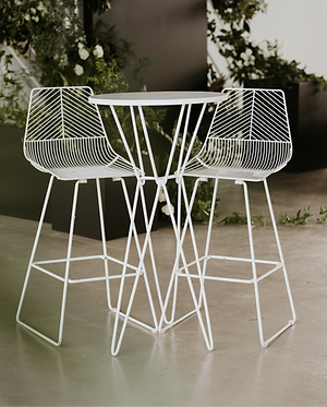 Round Wire Cocktail Table