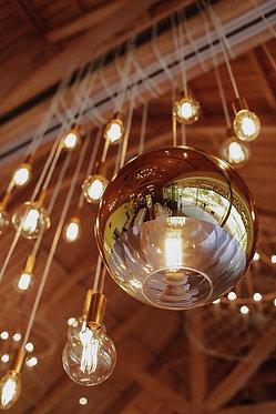 Gold Globe Pendant  40cm