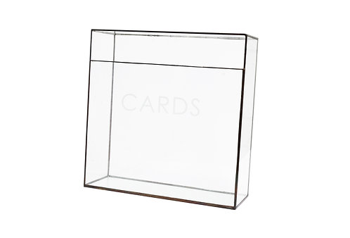 Modern Glass Card Box