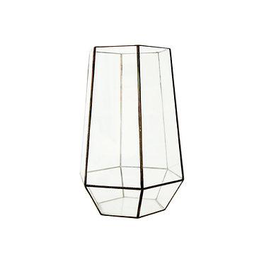 Black Glass Terrarium Lrg