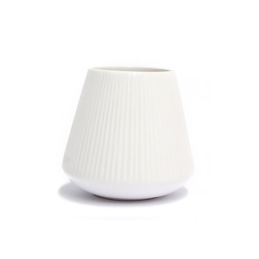 Lined White Pot