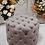Thumbnail: Deep Button Ottoman - Grey
