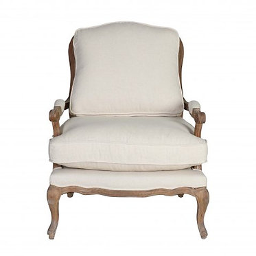 French Linen Armchair
