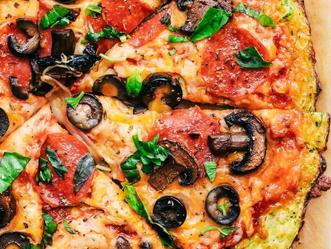 Pizza con Veggie Spirals de Zucchini