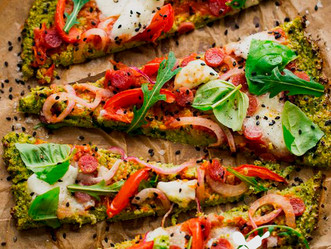 Pizza con Riced Veggies de Brócoli